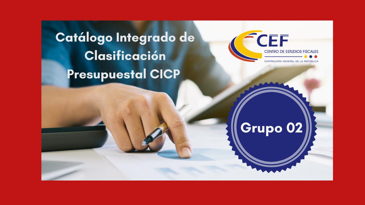 Catálogo Integrado de Clasificación Presupuestal Grupo 2